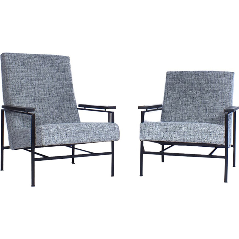 Set of 2 vintage armchairs by Rob Parry - 1960s