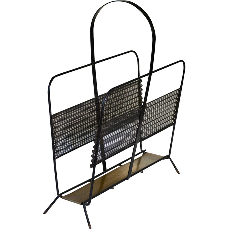 Vintage Metal magazine rack by Mathieu Matégot - 1950s