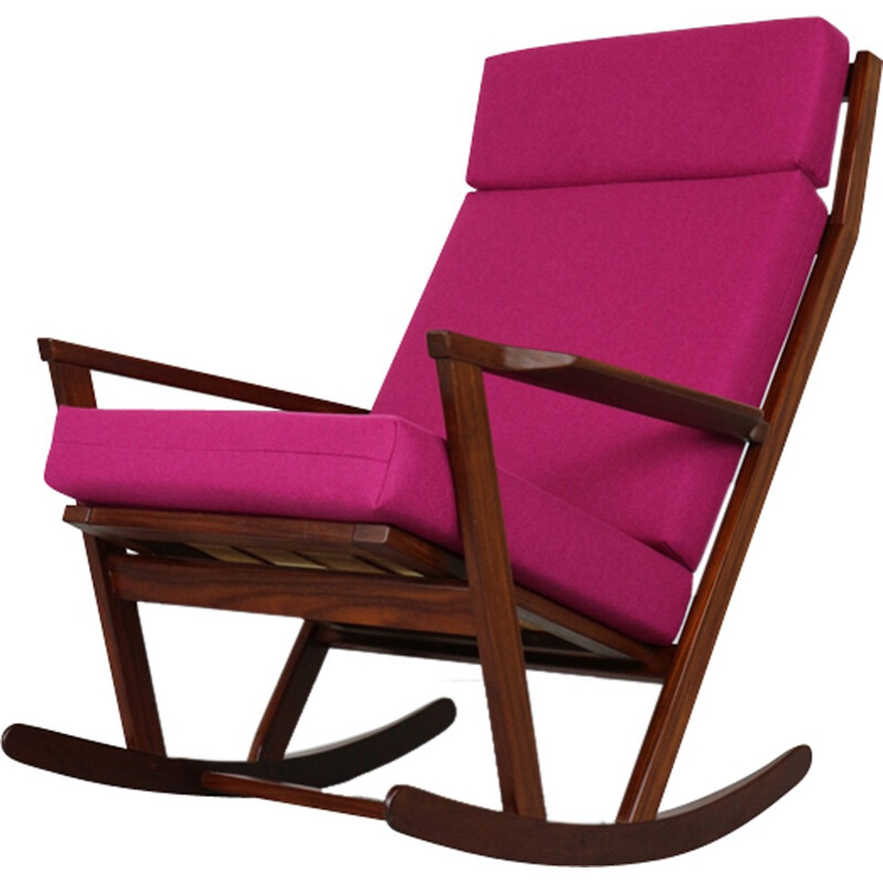 Vintage Rocking Chair by Poul Voltherfor Rojle - 1960s