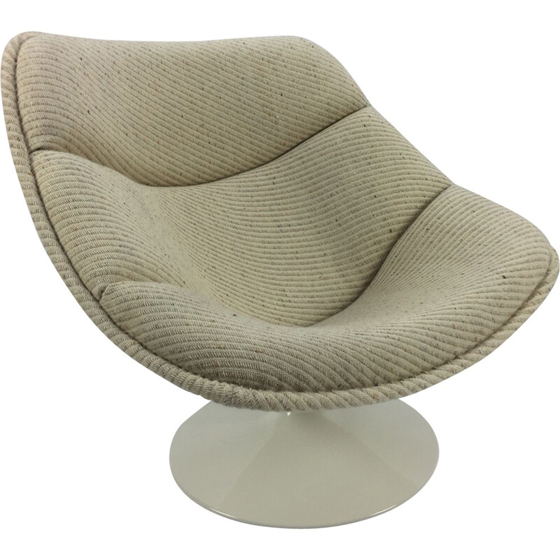 Dutch F558 Oyster Vintage Lounge Chair by Pierre Paulin for Artifort - 1960s