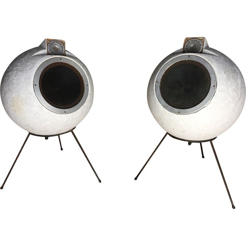 "Set of 2 speakers ""BS 404"" by Elipson - 1950s"