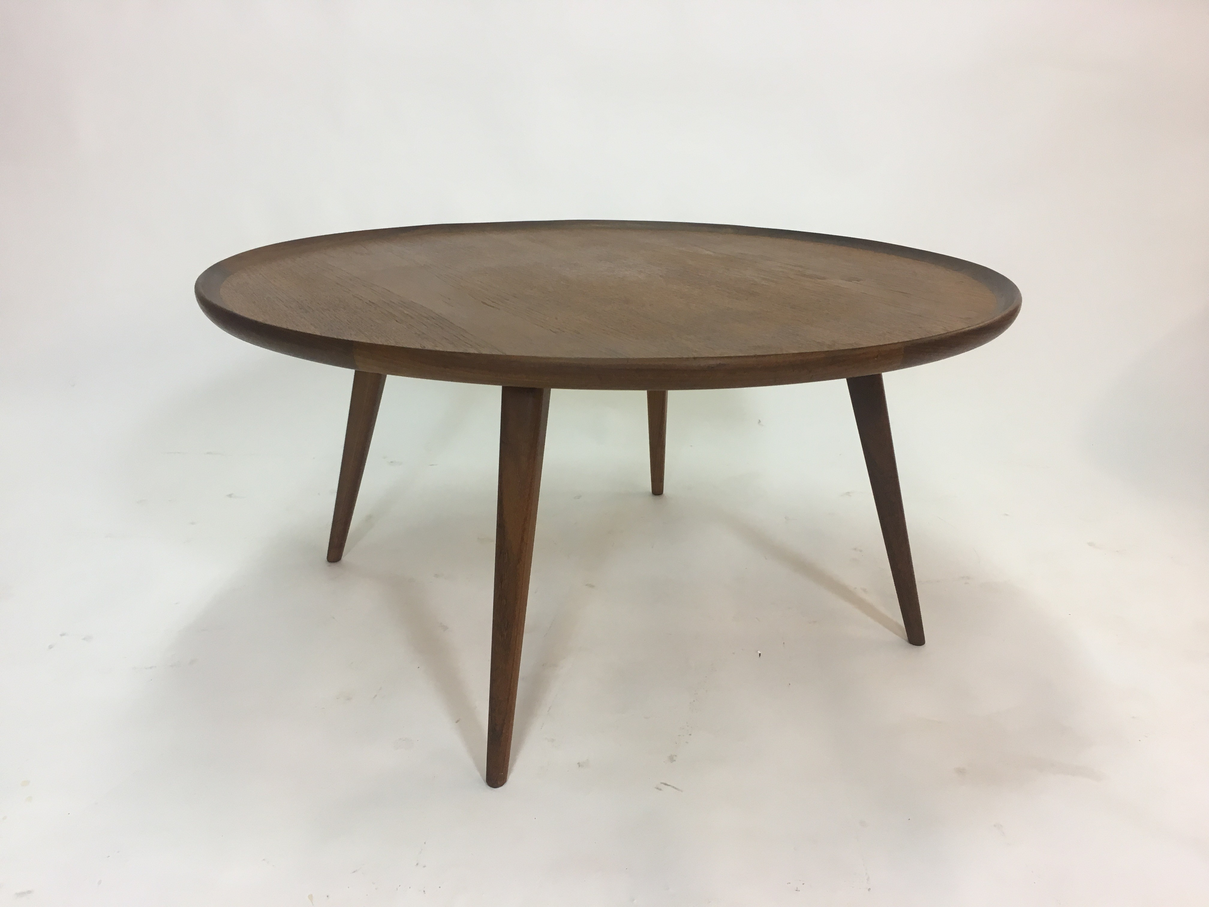 Vintage Round Teak Coffee Table - 1950s - Design Market