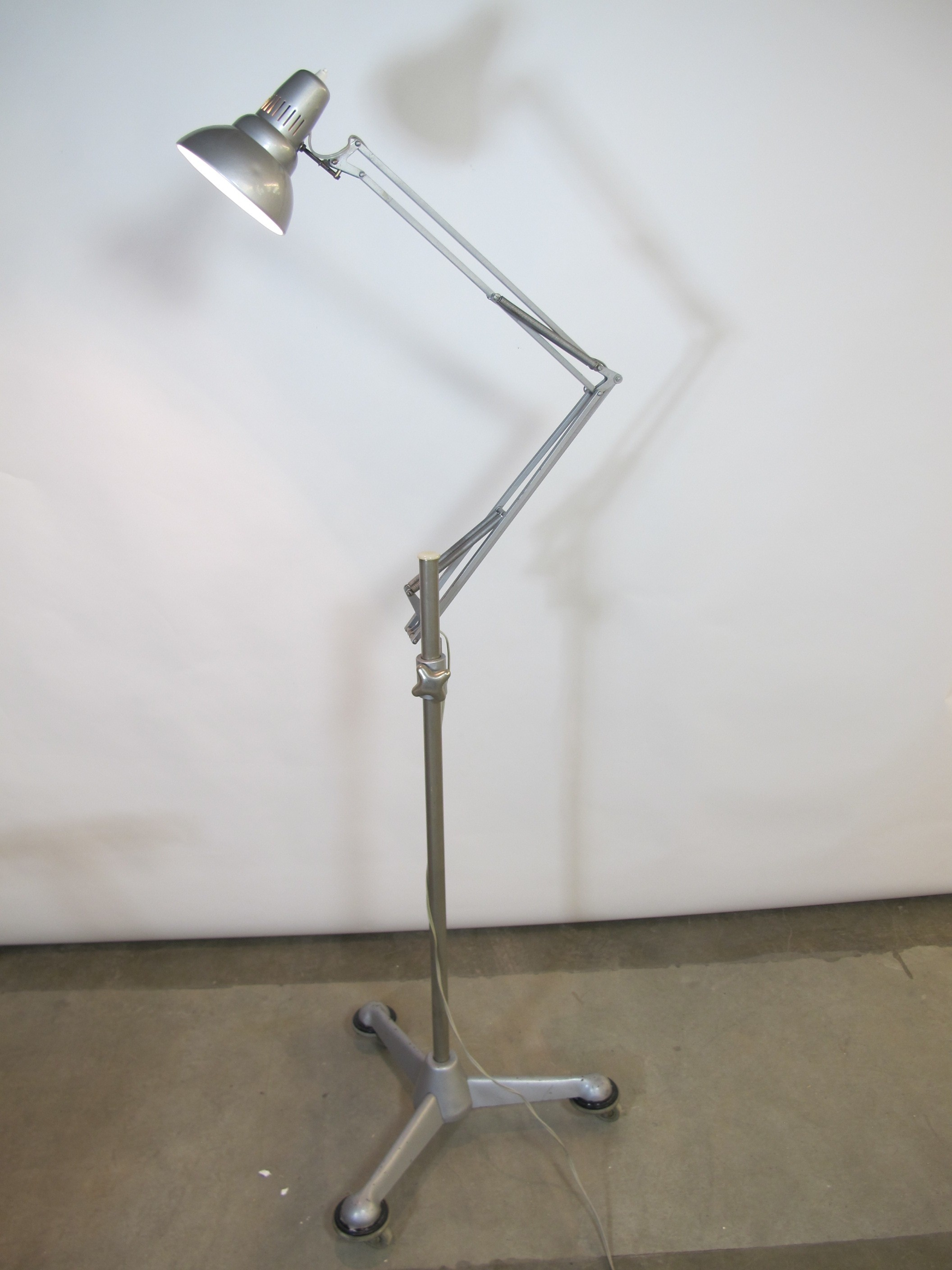 Vintage Anglepoise Floor Lamp With Wheels By Asea 1950s