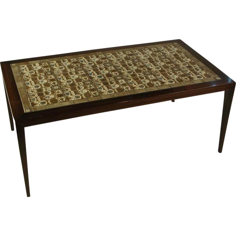 Vintage rosewood coffee table by Severin Hansen - 1970s