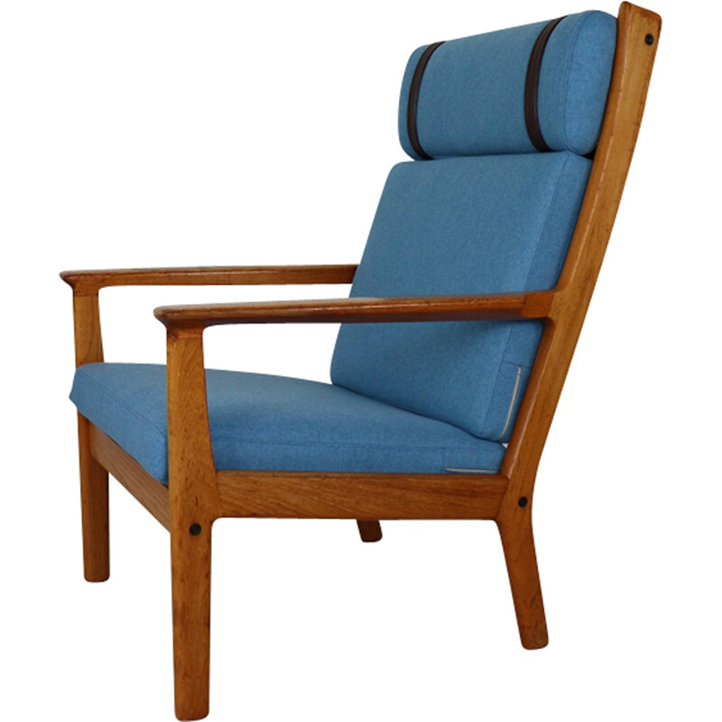 Vintage GE-265 High Back Lounge Chair by Hans Wegner - 1970s