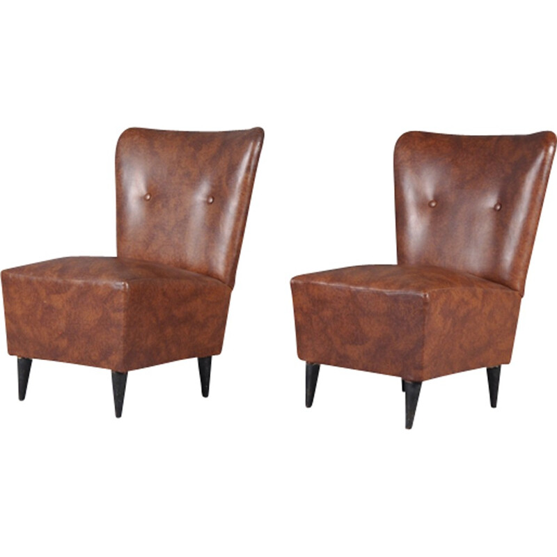 Set of 2 vintage Italian Easy Chairs - 1950s