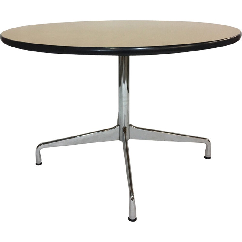 Vintage circular dining table by Charles & Ray Eames for Vitra - 1960s