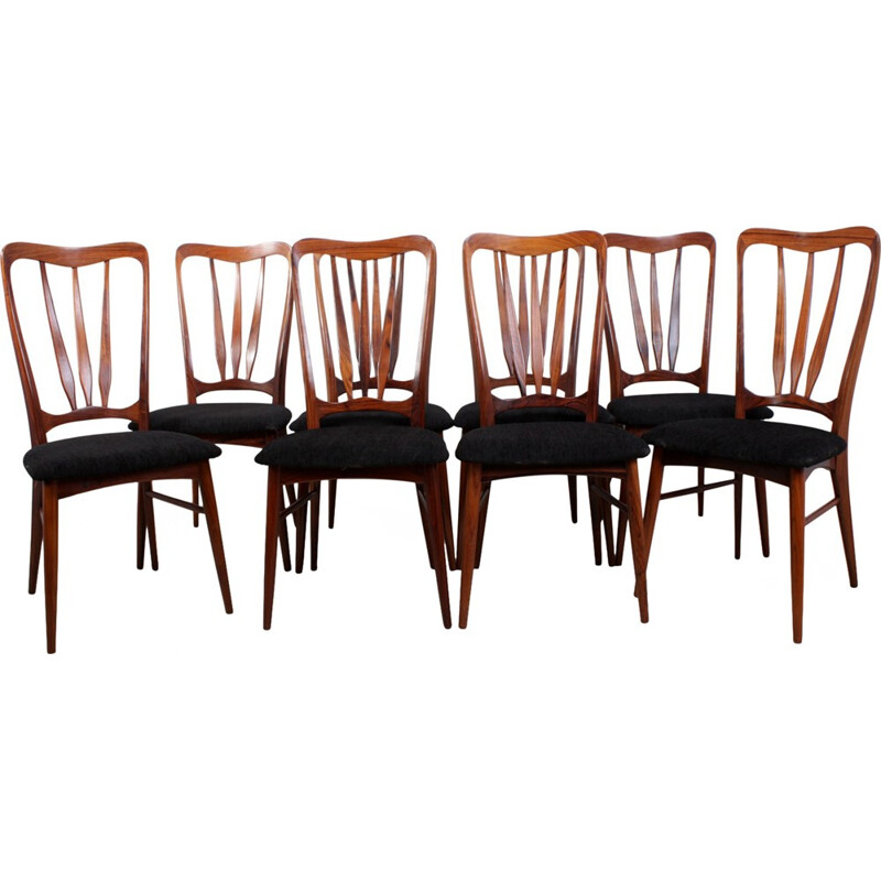Set of 8 Vintage Dining Chairs Ingrid by Koefoeds Hornslet - 1950s