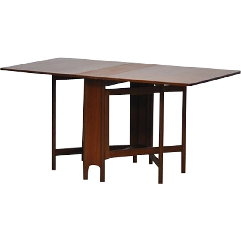 Mid Century Folding Dining Table From Mc Intosh - 1970s