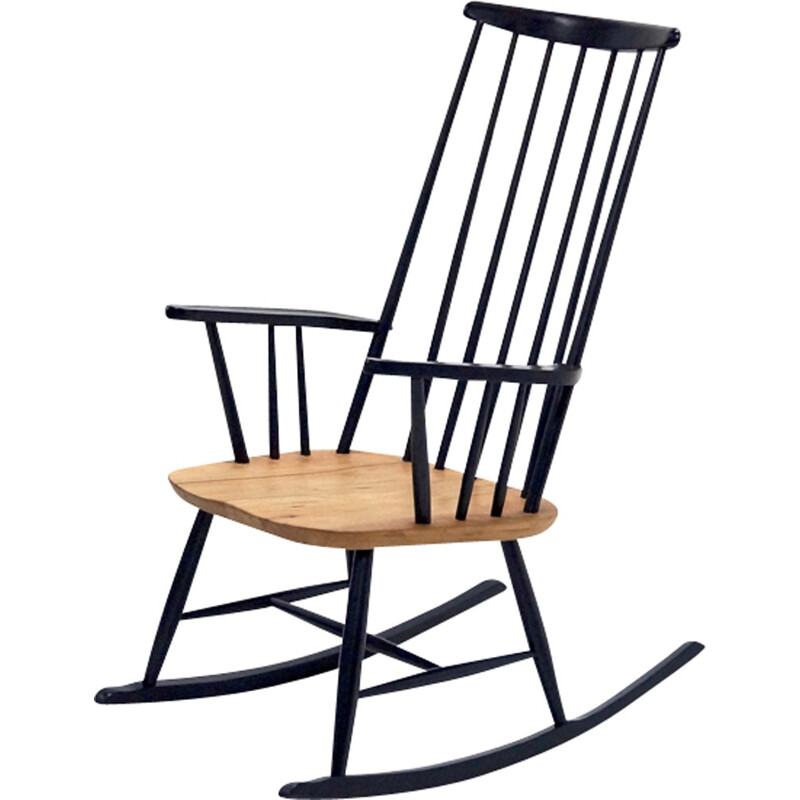 Vintage rocking chair by Roland Rainer for 2k - 1960s