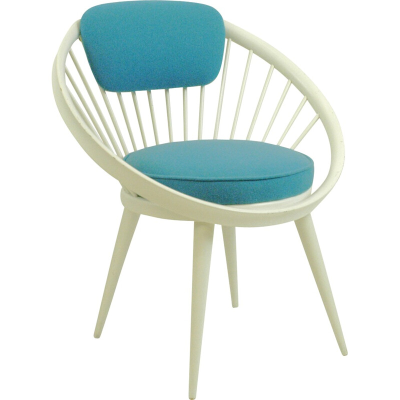 Vintage Circle Lounge Chair by Yngve Ekstrom - 1960s