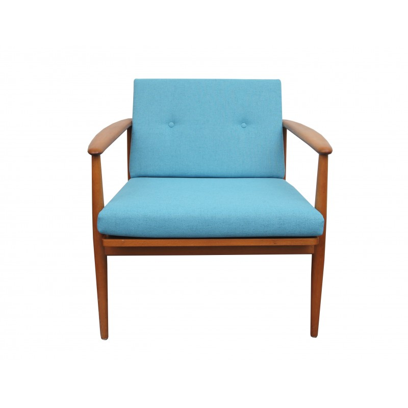 Vintage German light blue armchair - 1960s - Design Market