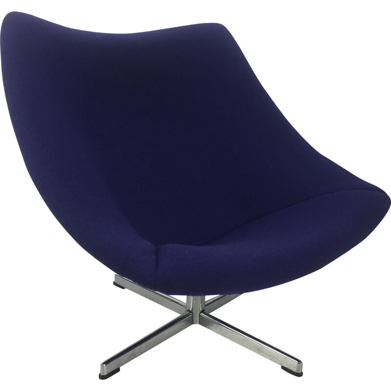 Vintage Oyster Chair with cross base by Pierre Paulin for Artifort - 1960s