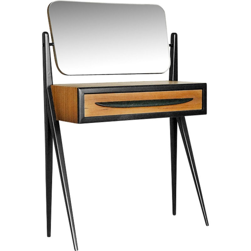 Danish Vintage Dressing Table With Mirror   1960s