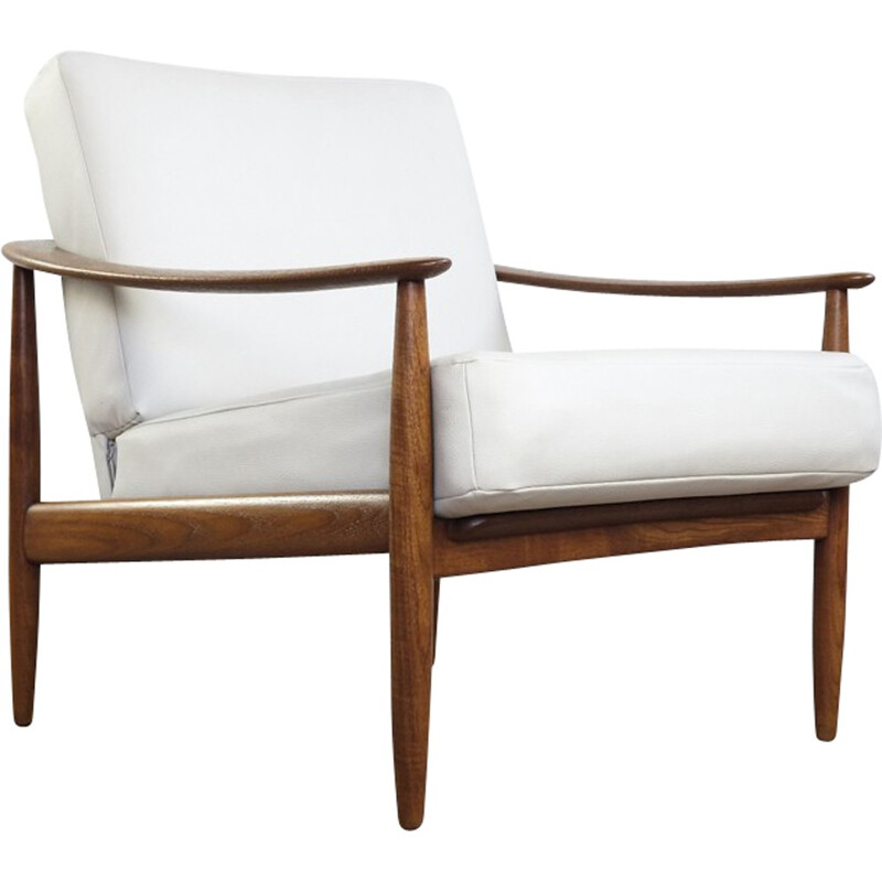 White easy chair in solid teak by Walter Knoll - 1960s