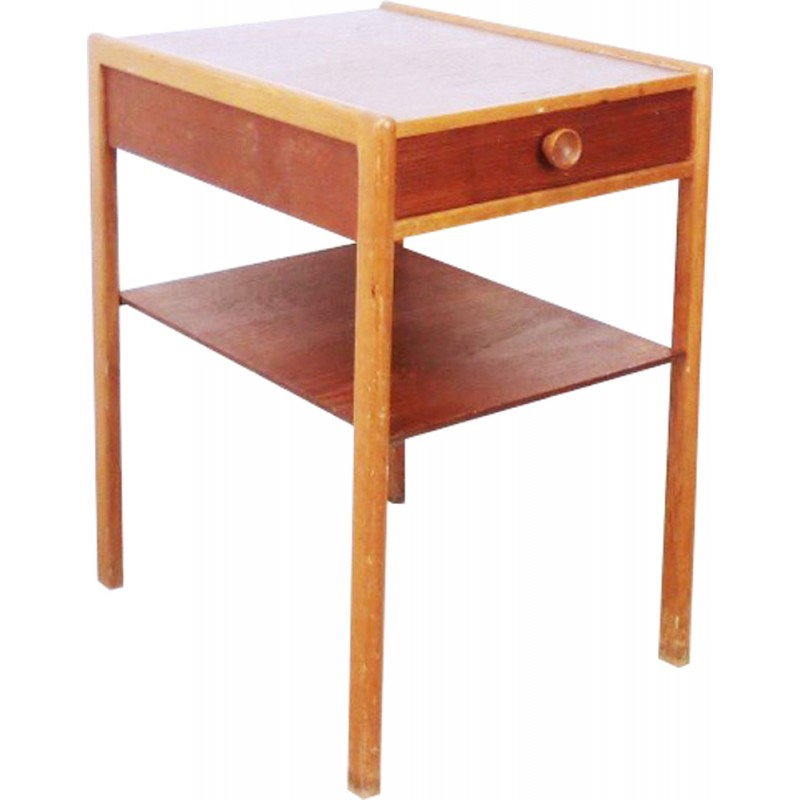 Vintage Bedside Table With Clean Lines 1960s