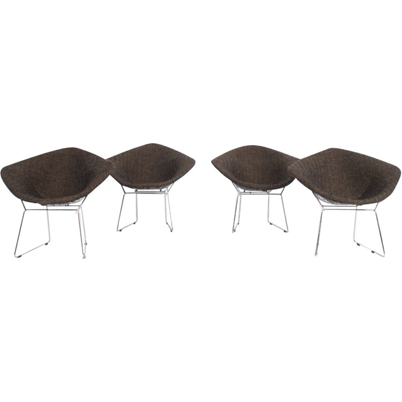 "Set of 4 armchairs model ""Diamond"" by Harry Bertoïa for Knoll - 1970s"