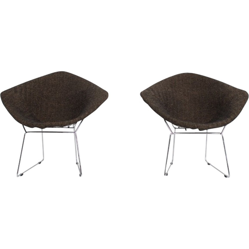 "Set of 2 armchairs model ""Diamond"" by Harry Bertoïa for Knoll - 1970s"