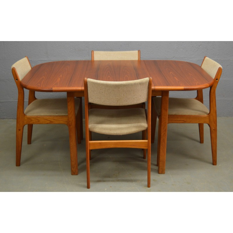 Vintage Teak Danish Table And Chairs By Dscan S Design Market - Teak table and 4 chairs