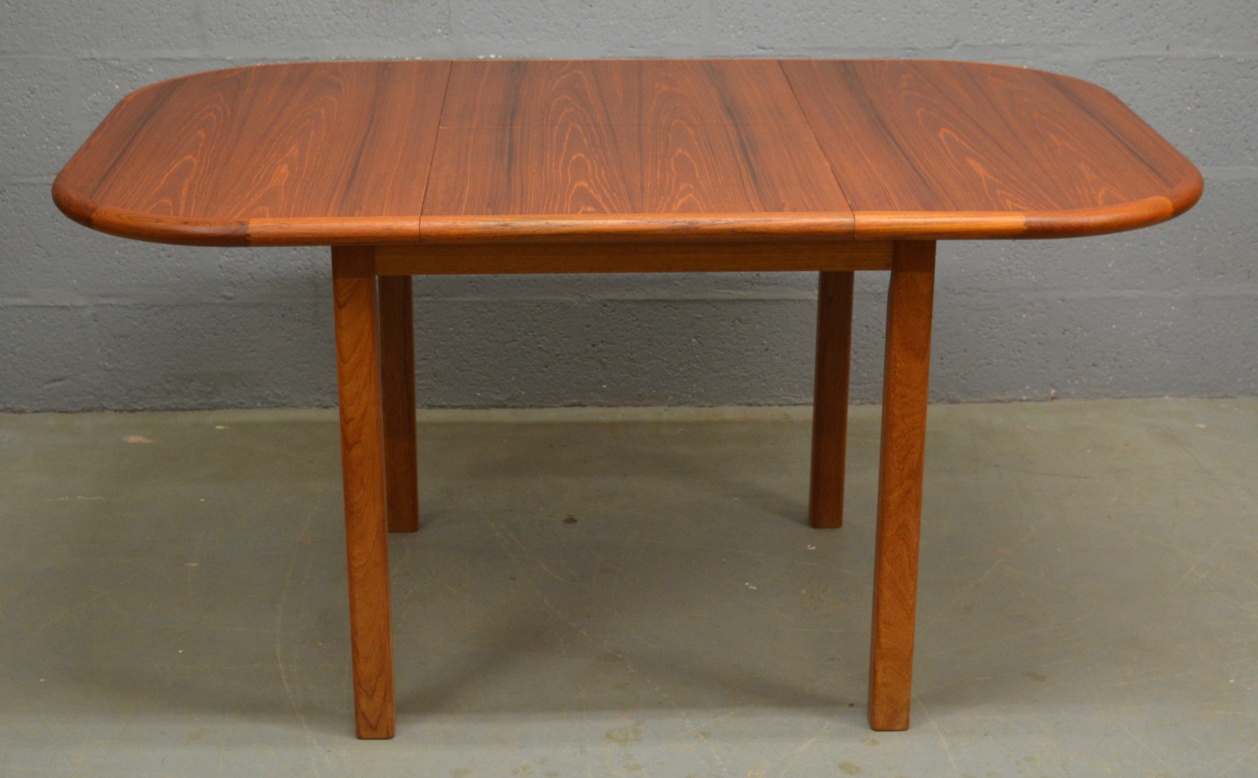Vintage Teak Danish Table And 4 Chairs By D Scan 1970s