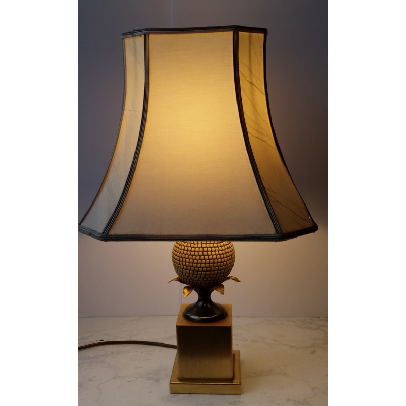 Vintage Foot Pineapple Table Lamps By Maison Charles 1970s