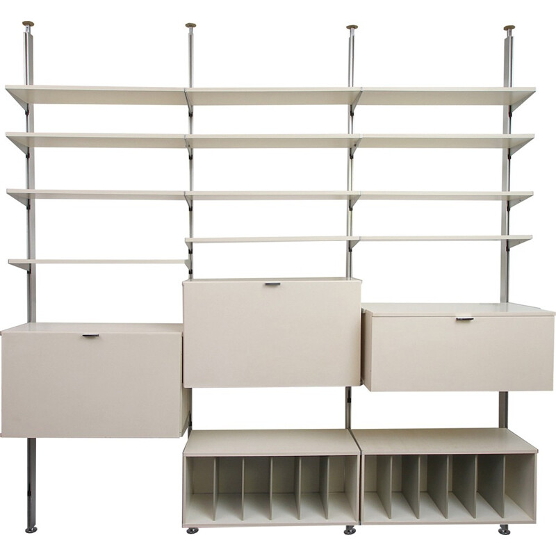 Vintage Wall unit in white aluminium - 1970s