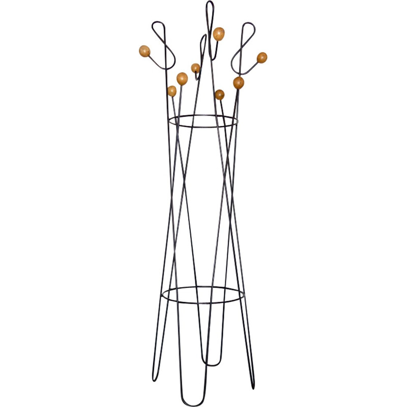 Metal Vintage Coat rack Vintage of Roger Feraud - 1950s