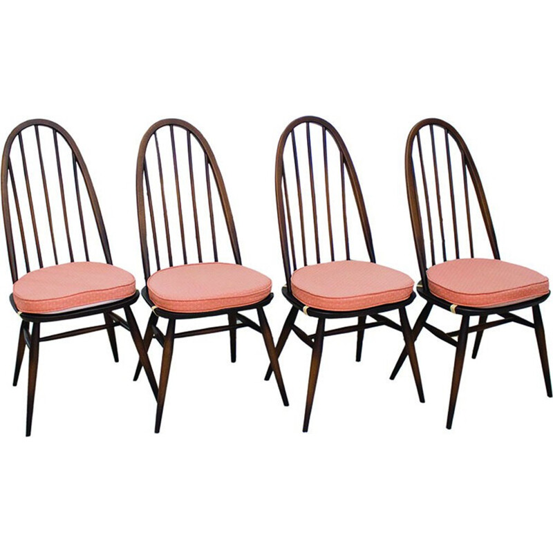 "Set of 4 ""Quaker 365"" dining chairs by Lucian Ercolani for Ercol - 1960s"