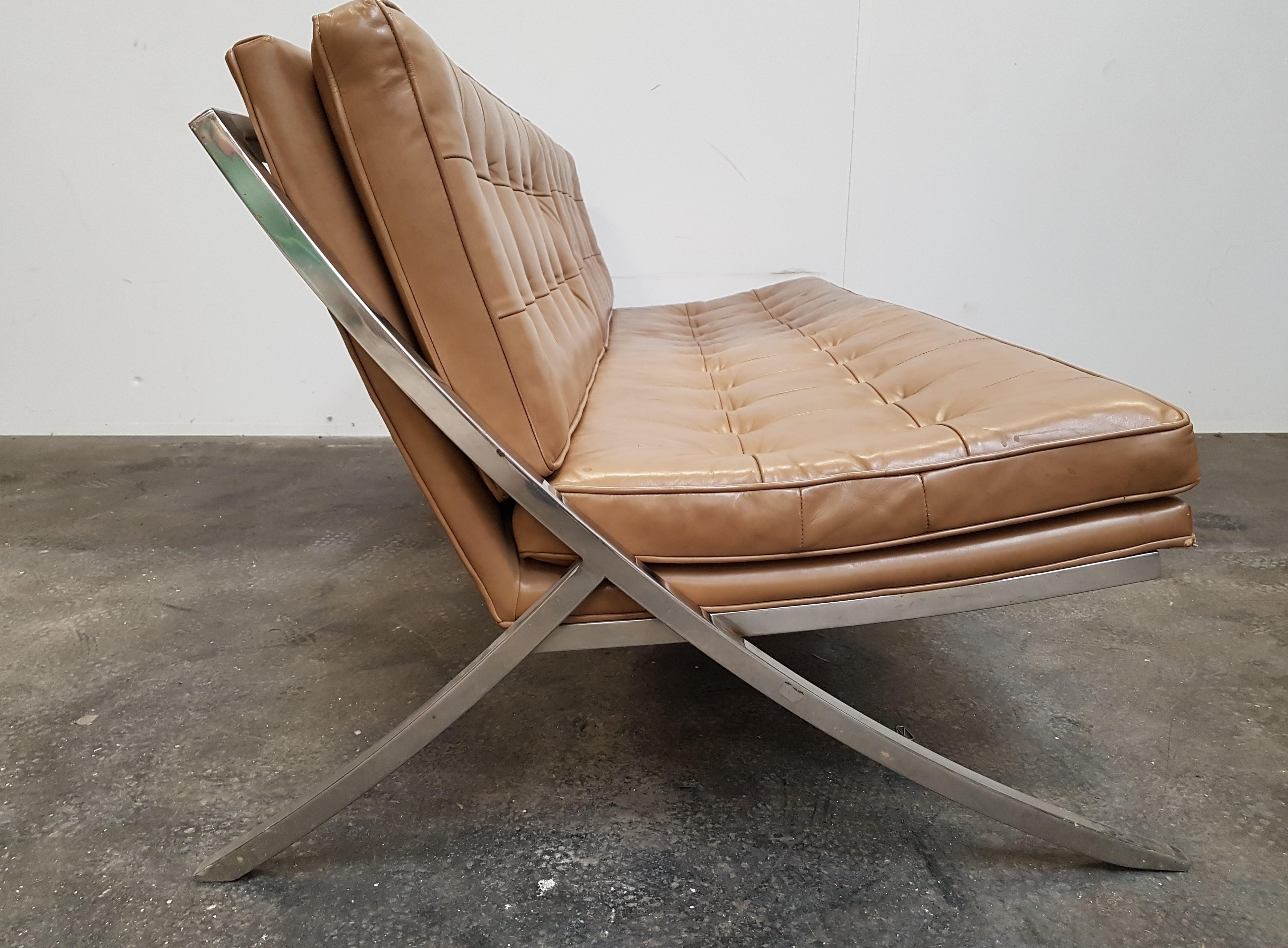 Leather Vintage Sofa By Mueller Furniture 1960s Design Market