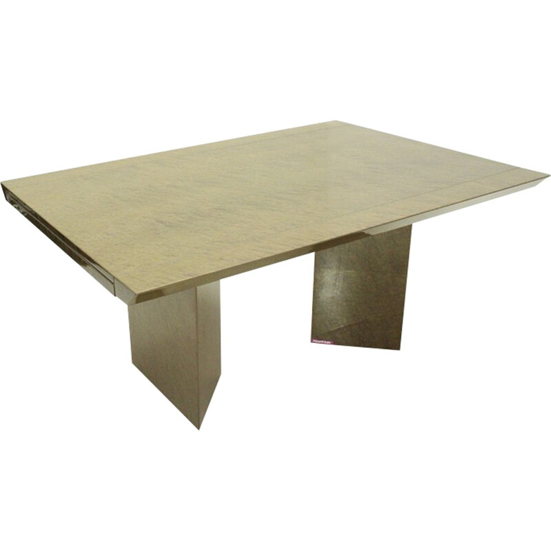 Vintage italian Extendable Table by Giovanni Offredi for Saporiti - 1980s