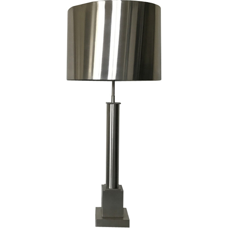 Vintage Column Metal lamp by Maison Charles - 1970s