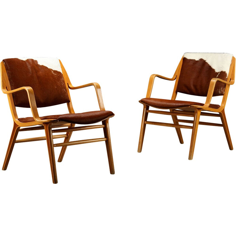 Vintage pair of Danish armchairs by Peter Hvidt - 1960s