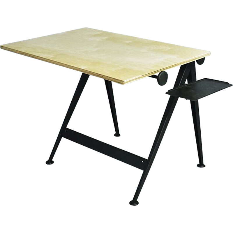 "Vintage ""Reply"" drafting table by Friso Kramer and Wim Rietveld for Ahrend de CIrkel - 1950s"