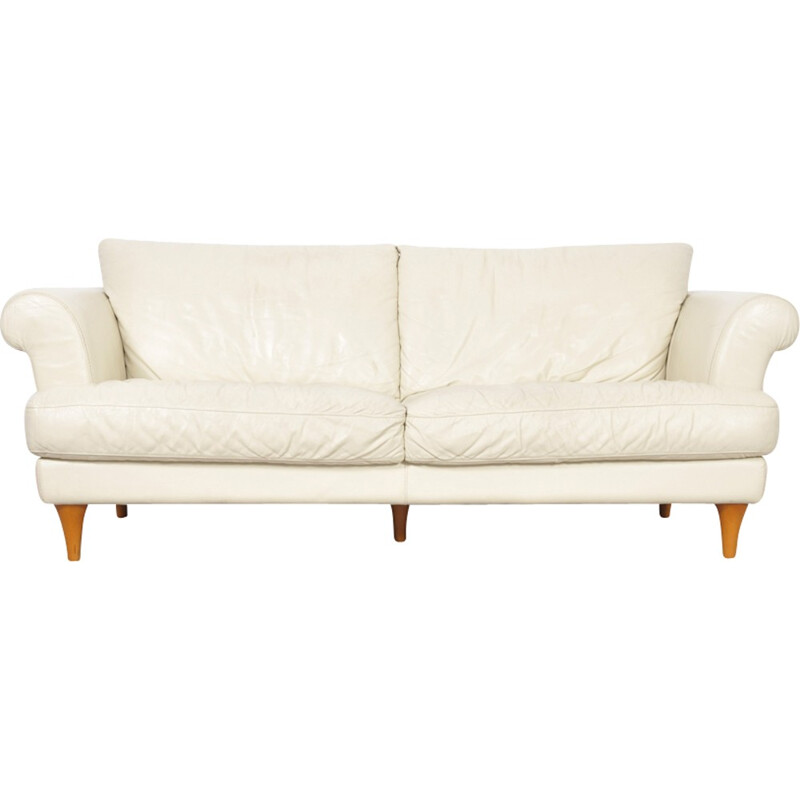 Italian Leather Vintage 2 seater Sofa - 1970s