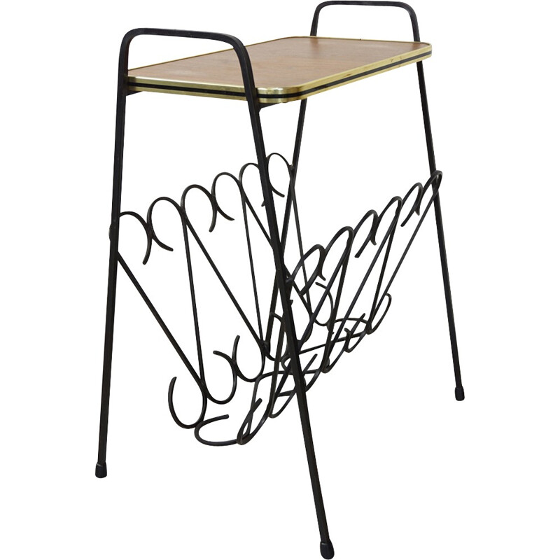 Vintage side table in wrought iron - 1950s