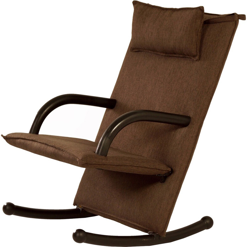 """Vintage """"T-Line"""" rocking chair by Burkhard Vogtherr for Arflex, Italy - 1980s"""