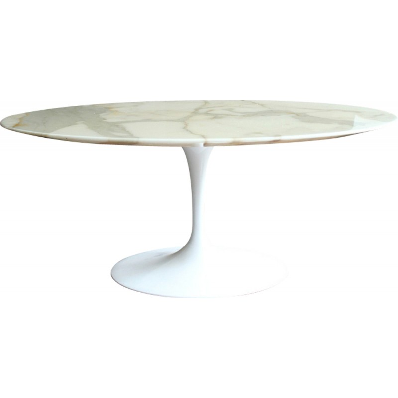 Vintage Carrara Marble Tulip Coffee Table By Eero Saarinen S - Saarinen carrara marble table
