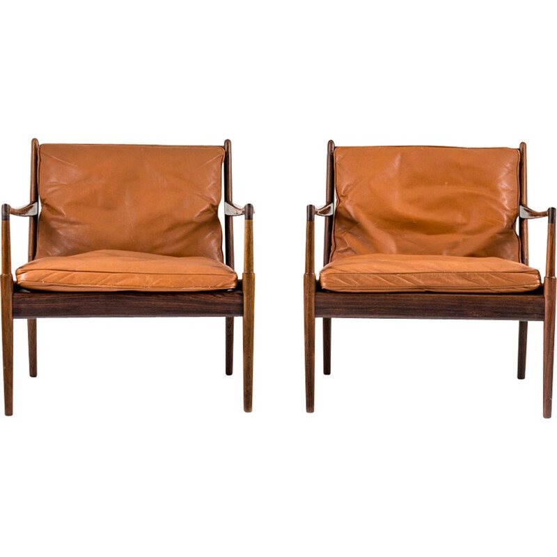 "Pair of ""Samsö"" Lounge Chairs in rosewood by Ib Kofod Larsen - 1960s"
