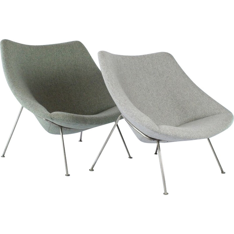 Set of 2 Oyster chairs by Pierre Paulin for Artifort - 1950s