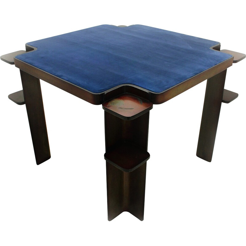 Vintage game table in wood for Cini & Nils - 1970s