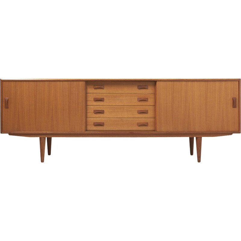 sideboard in teak with 2 sliding doors and 4 drawers by Clausen & Son - 1960s