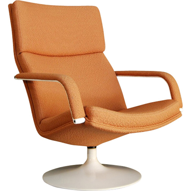 "Dutch ""Model F194"" Swivel Chair by Geoffrey Harcourt for Artifort - 1980s"