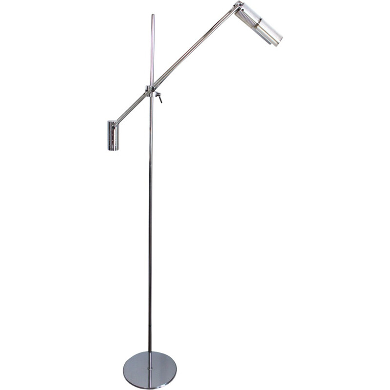"Vintage ""18508"" chromed floor lamp - 1970s"