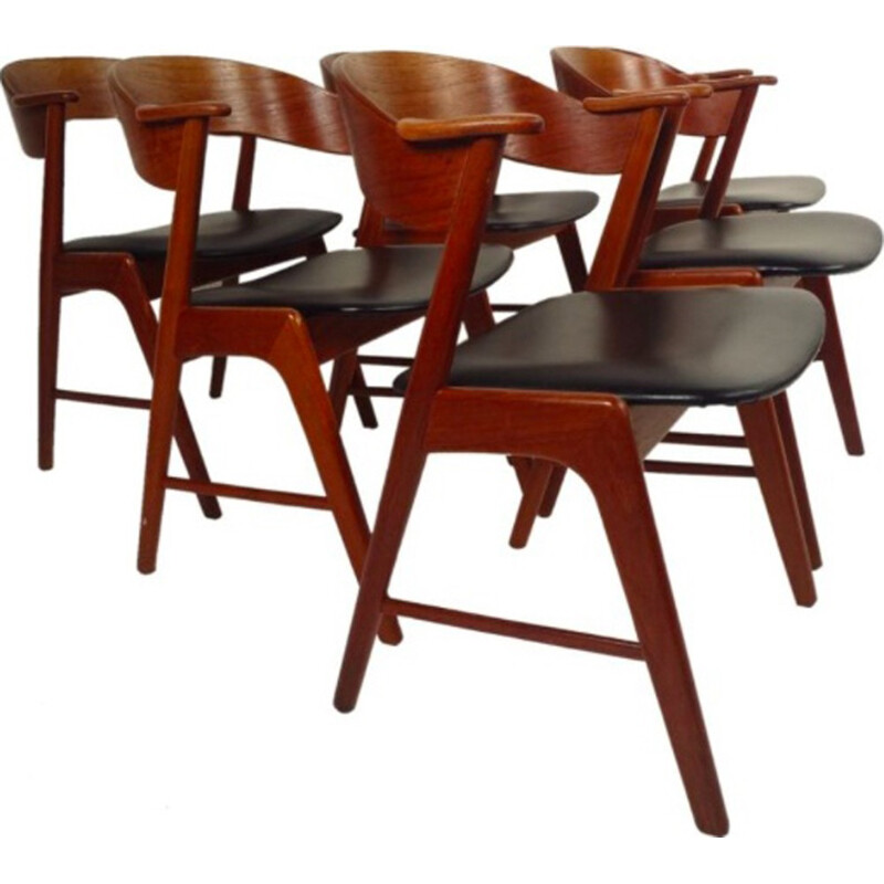 Set of 4 Danish Vintage chairs by Kai Kristiansen - 1960s