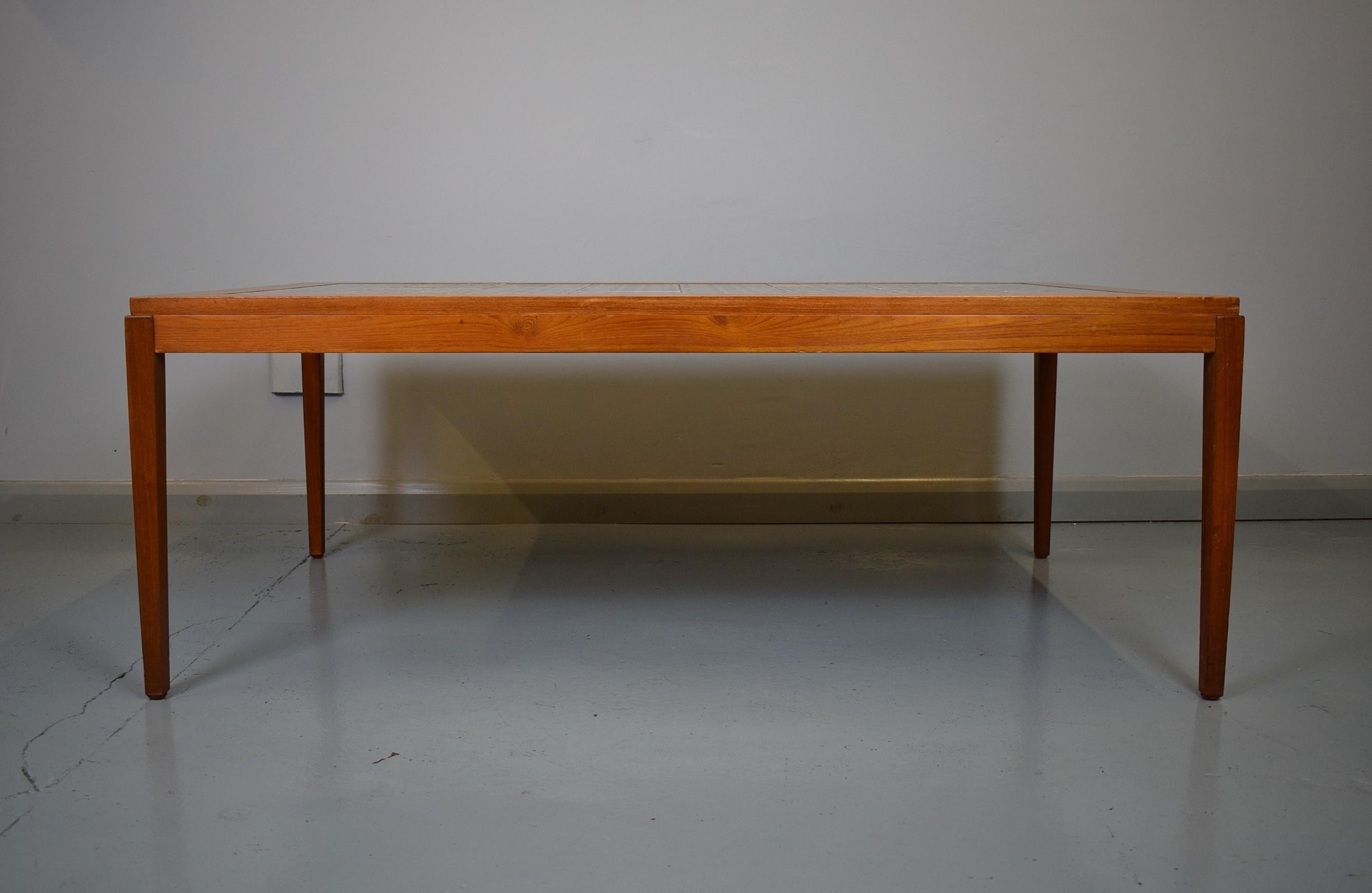 Vintage Danish Teak tile top coffee table by Haslev ...