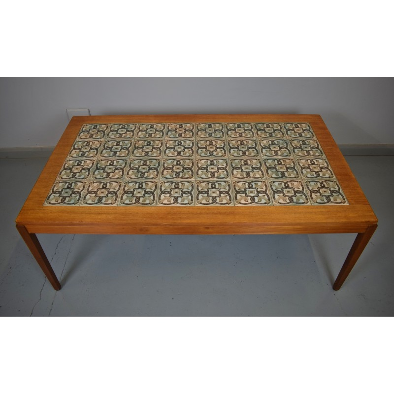 Vintage Round Coffee Table Jelva By Broste Copenhagen: Vintage Danish Teak Tile Top Coffee Table By Haslev