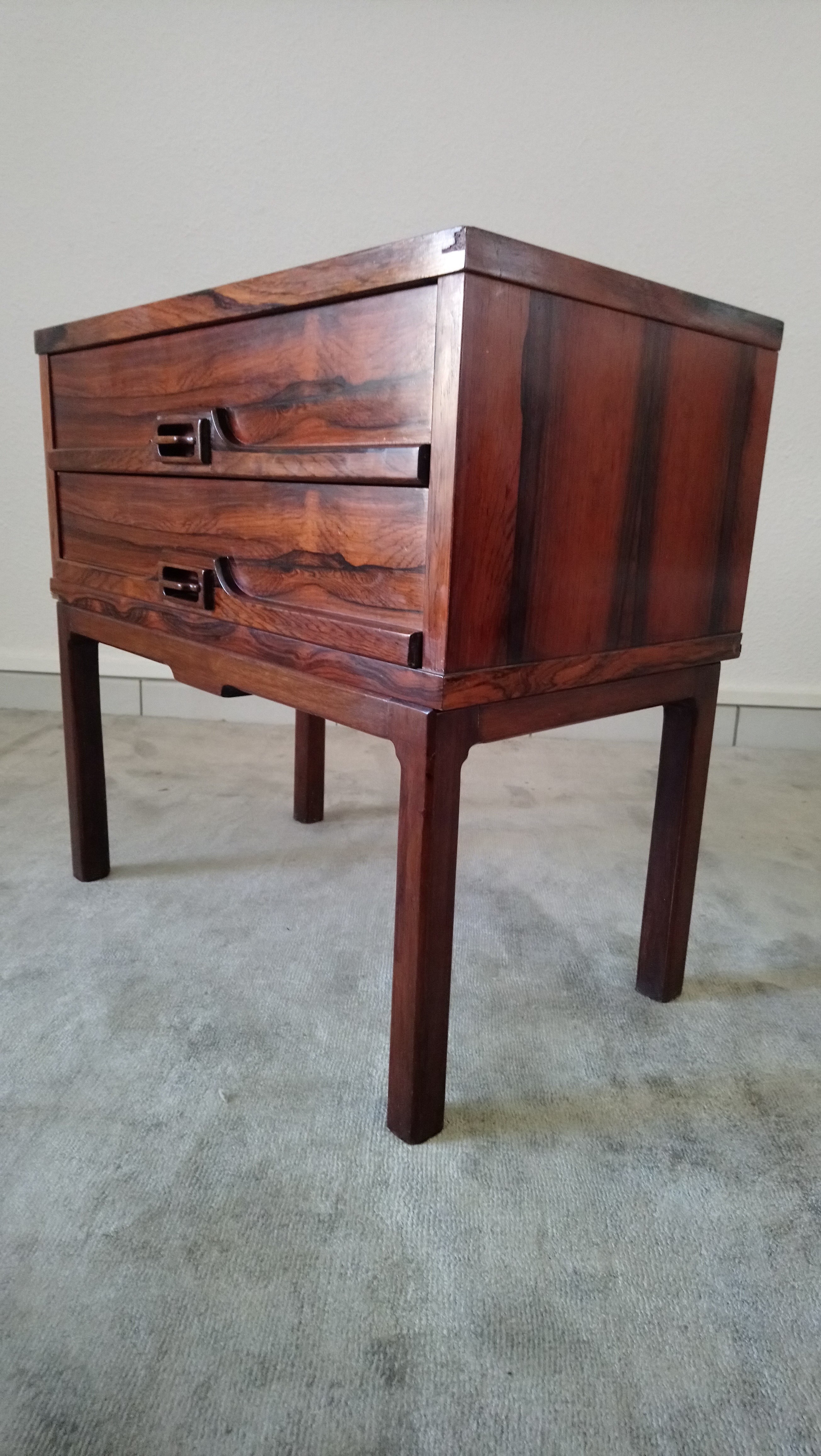 Retro Style Container Bedside Table: Pair Of Vintage Bedside Tables In Rio Rosewood