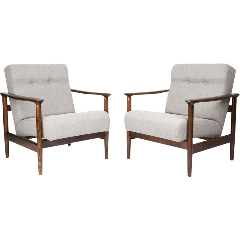Pair of vintage GFM-142 armchairs by Edmund Homa - 1960s