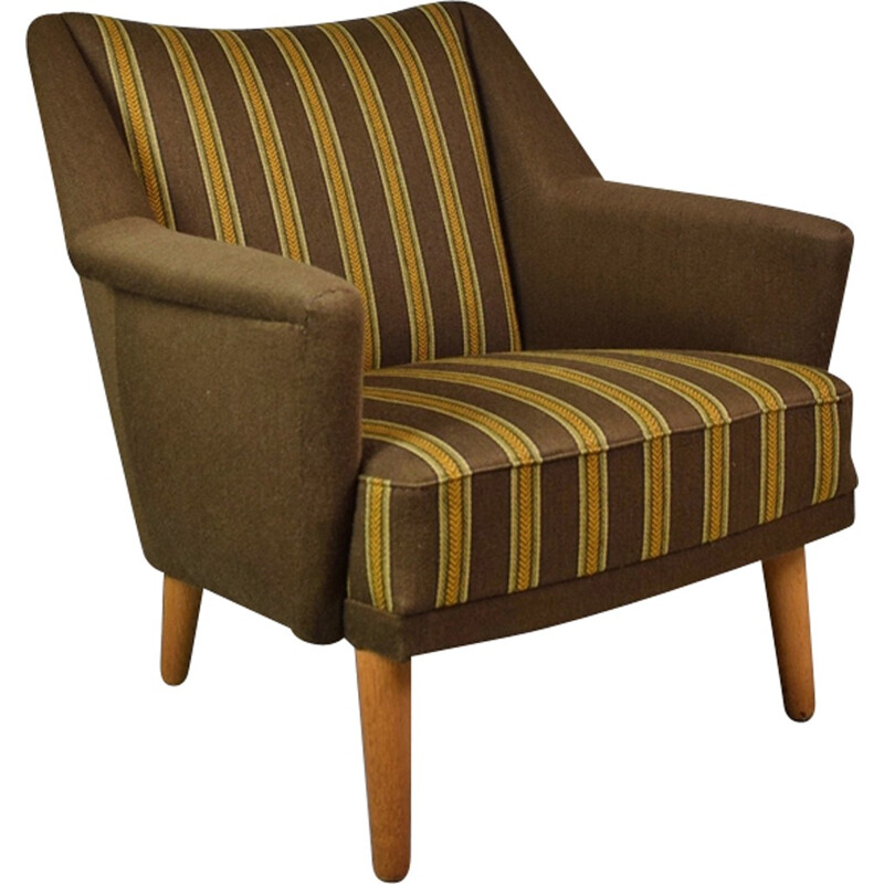 Vintage Brown Model 54 Armchair by Kurt Ostervig - 1950s