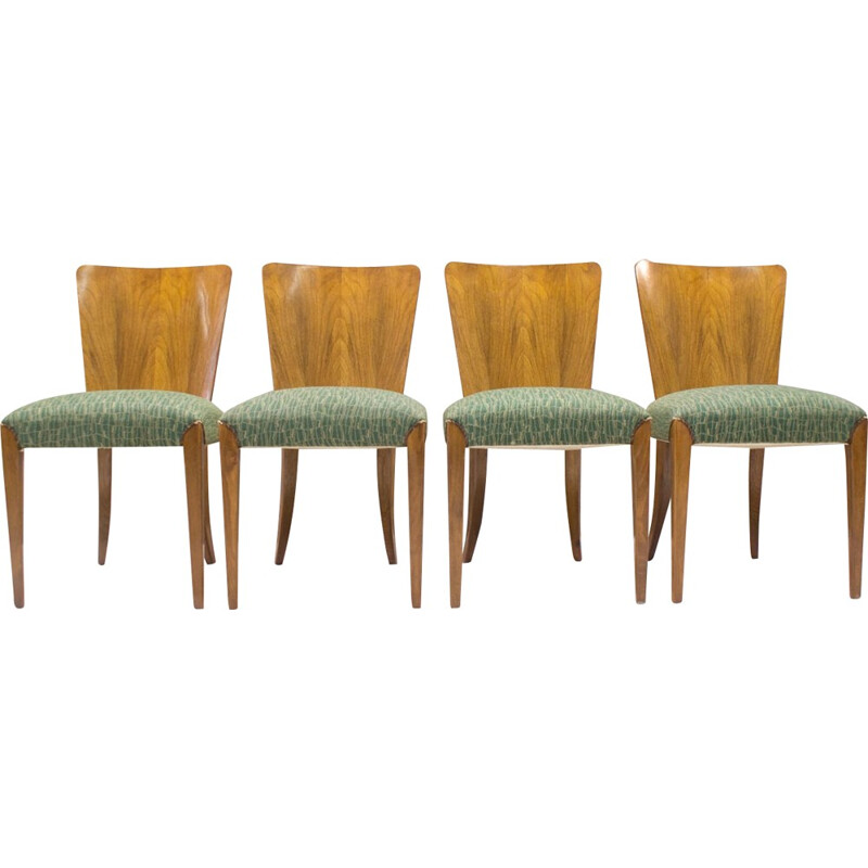 Set of 4 Vintage Dining Chairs by Jindřich Halabala for UP Zavody - 1930s
